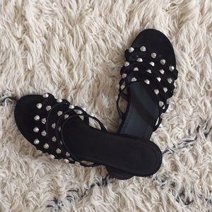 Balenciaga Black Leather Sandles